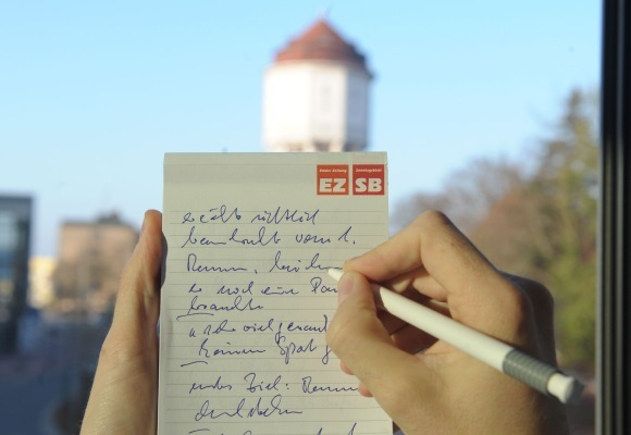 Schreibblock mit Notizen